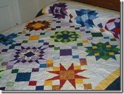 Combinacion  bloque de estrella con bloque de cuadrados