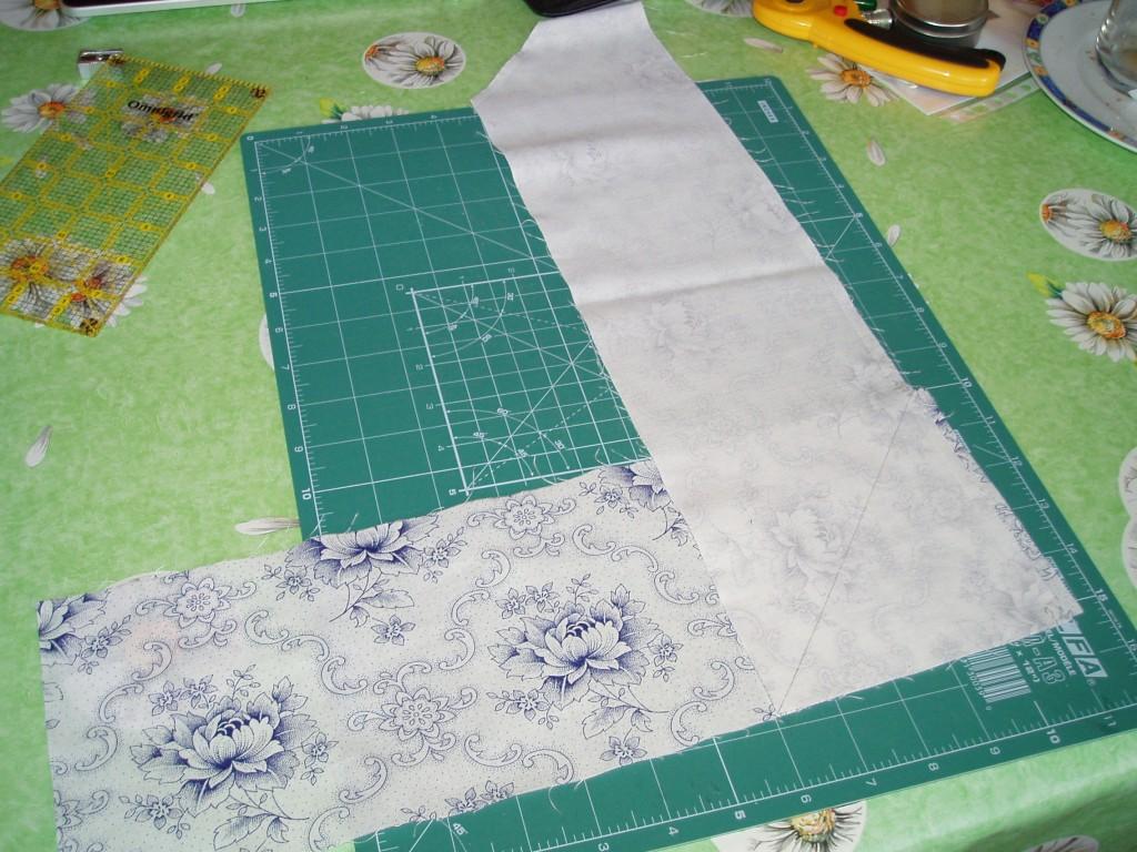 posición para coser las tiras